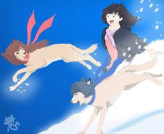 Wolf Children Ame and Yuki a movie created by Mamoru Hosoda This scene which can also be seen in the trailer is my favorite XD Its a movie i recommend s. Wolf Children Ame and Yuki Wolf Children Ame, Japanese Animated Movies, Tinkerbell, Art For Kids, Disney Characters, Fictional Characters, Digital Art, Fan Art, Animation