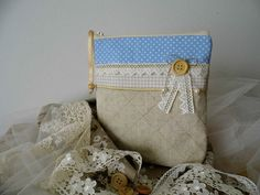 Linen clutch purse pouch gifts for her by MelindasSewingCorner