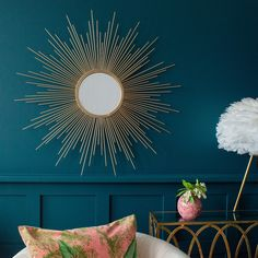 gold home accessories home accessories homeaccessories Gold Sunburst Mirror - available from Audenza Gold Sunburst Mirror, Sun Mirror, Unique Mirrors, Beautiful Mirrors, Vintage Mirrors, Gold Home Accessories, Decorative Accessories, Kitchen Accessories, Gold Walls