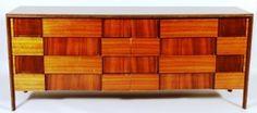 Edmund Spence Midcentury Walnut Dresser, 20th