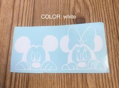 Mickey and Minnie vinyl decal sticker car decal window sticker car accessory Disney Mickey Mouse Minnie Mouse Gift idea Cute by TaylorMadeTreasureUS on Etsy Yeti Stickers, Tumbler Stickers, Window Stickers, Car Stickers, Car Decals, Vinyl Decals, Minnie Mouse Gifts, Mickey Mouse, Cute Messages