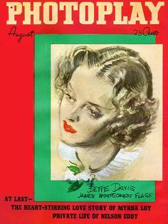 Bette Davis - Photoplay, Aug, 1936.