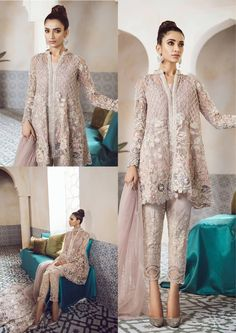 For contact 00923009681116 Frock Fashion, Batik Fashion, Hijab Fashion, Fashion Dresses, Couture Dresses Gowns, Shadi Dresses, Pakistani Outfits, Indian Outfits, Muslim Fashion