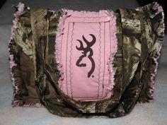 Buck Deerhead Rag Bag Tote Purse Pink Browning Camo and Mossy Oak Camo | eBay