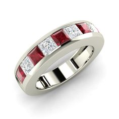 9ba17735da17 Mens Certified Ruby Real 14K White Gold Genuine Diamonds Gemstone Ring Size  12 Accesorios Masculinos