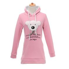 nice Brand new Adorable Ladies Woman Wool Hoodie Adorable Keep Printing Lengthy Sleeve Moleton Pullover Layer Sweat shirts Tracksuits Black/Pink/Blue