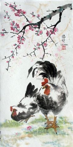 Darlene Kaplan - Just the Two of Us #sumie #brushpainting #Ink and Wash Painting #Chinese Art #Japanese Art