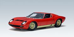 AUTOart Lamborghini Miura SV in Red/Gold Sides Beautifully crafted Lamborghini Miura SV diecast model car 1:18 scale die cast by AUTOart. This is http://www.comparestoreprices.co.uk/diecast-model-cars--others/autoart-lamborghini-miura-sv-in-red-gold-sides.asp