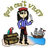 Pirates and mateys of all ages will love this treasure hunting pirate design.   Who says girls can't be pirates