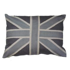 Grey Linen Union Jack Pillow