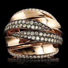 18K Rose Gold 1.45CT Diamond Ring