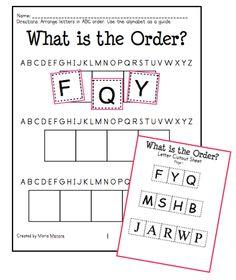 ABC Order Intro and FREEBIE - Kinder Craze: A Kindergarten Teaching Blog