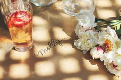 molly swoons: A FLOWER ARRANGING PARTY | Make your guests feel special at your summer parties.