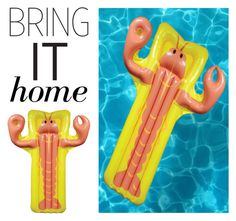 """Bring It Home: Lobster Pool Float"" by polyvore-editorial ❤ liked on Polyvore featuring interior, interiors, interior design, home, home decor, interior decorating and bringithome"