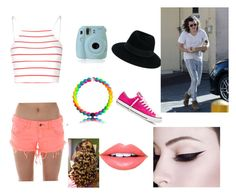 """""""Sightseeing with Harry """" by mackmck on Polyvore featuring Glamorous, Billabong, Maison Michel, Fiebiger and Converse"""