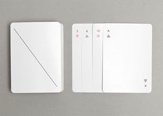 Ultra-Minimalist Playing Cards That Are Almost Blank - DesignTAXI.com
