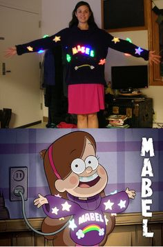 Gravity Falls Mabel Halloween Costume with Lights by RedCrosseKnight on deviantART