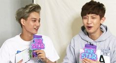 basically me how i laugh whn they do something funny as if i was right there!! ........pfft......the only thing is...wait..Kai is right there wid Chanyeollie....wonder wats his reaction O.O  as i said i do the same!!!