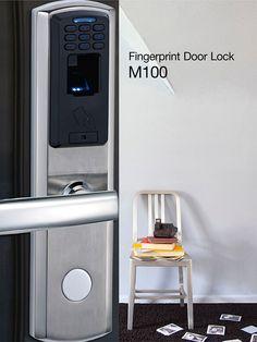 M100 Stainless steel fingerprint and keypad digital office door lock