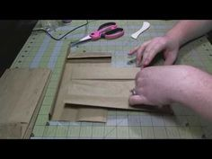 Scrapbook Tutorial: Kathy's Paper Bag Album + My Modifications - Kathryn gives good clear instructions Paper Bag Scrapbook, Scrapbook Journal, Mini Scrapbook Albums, Scrapbook Cards, Scrapbook Maker, Scrapbooking, Paper Bag Crafts, Paper Bags, Paper Bag Books