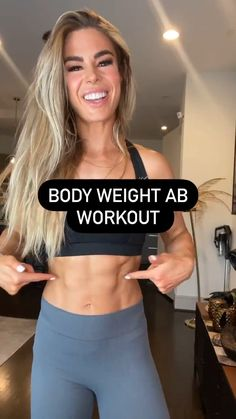Body Weight Ab Workout, Summer Body Workouts, Gym Workouts, Fitness Workout For Women, Workout Challenge, Workout Videos, Fitness Inspiration, Fitness Motivation, Abs