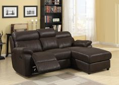Loveseat Recliner With Chaise Lounge Modern Sectional Reclining Sofa