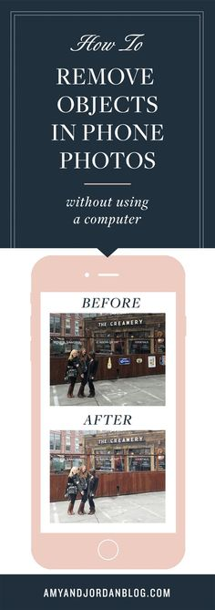 How to remove objects in phone photos without using a computer!