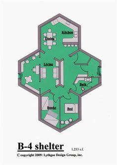 Take a look at the NEW Beehive Bomb Shelter. Building Plans, Building Design, Floor Design, House Design, Underground Shelter, Underground Bunker Plans, Doomsday Bunker, Bomb Shelter, Safe Room