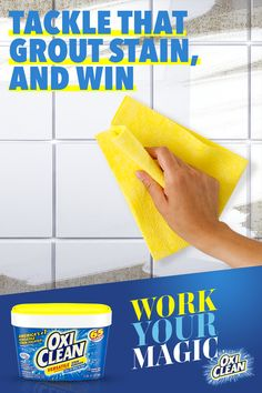 When dirty grout becomes a problem, you have the power to make the dirt disappear with OxiClean. Tap the Pin to Work Your Magic with America's Versatile Stain Fighter. Diy Home Cleaning, Bathroom Cleaning Hacks, Household Cleaning Tips, Cleaning Recipes, House Cleaning Tips, Deep Cleaning, Grill Cleaning, Cleaners Homemade, Diy Cleaners