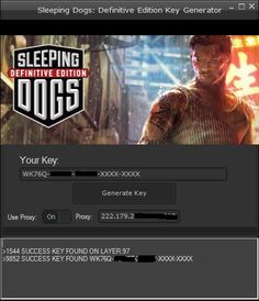 Sleeping Dogs Definitive Edition Key Generator Hack Tool