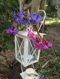 Mini Ivory Lanterns - HALF PRICE  STARTING BID £49, RRP £100 - END IN 4 HOURS!  At a Glance: Small ivory lantern Painted metal Glass sides Vented cap Works with tea lights or votives Candle not included  Measurements: Height of lantern: 12cm Height of handle: 8cm   Width: 7.5cm