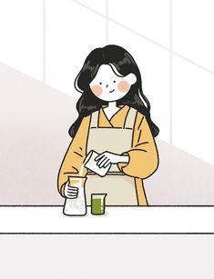 Korean Illustration, Japon Illustration, Cute Illustration, Cute Art Styles, Cartoon Art Styles, Cartoon Drawings, Cute Little Drawings, Cute Drawings, Kawaii Drawings