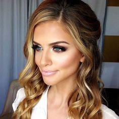 soft smokey eye & pink lips - stunning bridal makeup look! ~ we ❤ this! moncheribridals.com