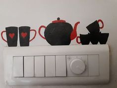Home Decor Ideas Industrial Kitchen design for switch board Simple Wall Paintings, Creative Wall Painting, Small Canvas Paintings, Wall Painting Decor, Wall Art Designs, Paint Designs, Wall Design, Design Case, Kitchen Wallpaper Stickers