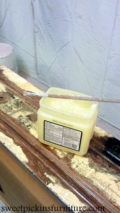 Learn how to use vaseline to resist paint and distress furniture using vaseline.