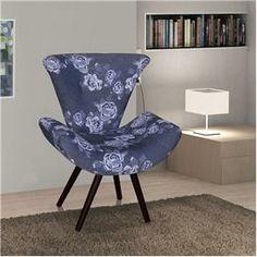 Poltrona American Comfort Thais – Azul Floral