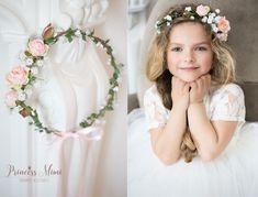Haarschmuck & Kopfputz - Blumenkranz Boho Hochzeit Blumen Haarschmuck Kranz - ein Designerstück von Princess_Mimi bei DaWanda