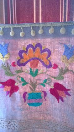 tapiz bordado a mano