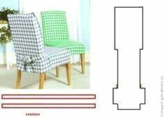 dining chair covers and how to … - DIY Möbel Dining Room Chair Covers, Living Room Chairs, Dining Chairs, Ikea Chairs, Eames Chairs, Furniture Covers, Diy Furniture, Chaise Diy, Slipcovers For Chairs