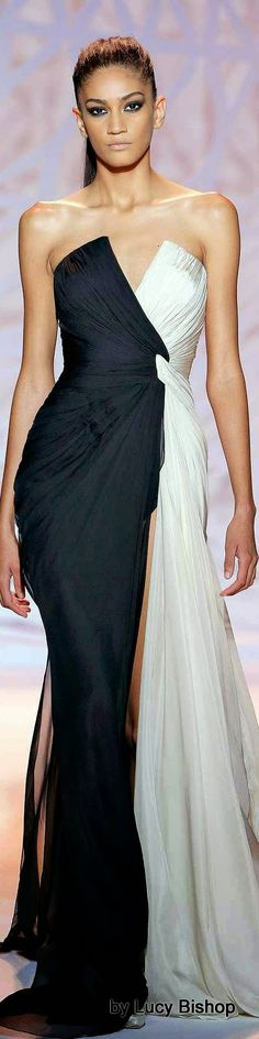 Zuhair Murad Haute Couture Fall/Winter I seriously have no reason for one but I can't stop looking at these dresses. Beautiful Gowns, Beautiful Outfits, Classy Outfits, Couture Fashion, Runway Fashion, Zuhair Murad, Black White Fashion, Looks Style, Dream Dress