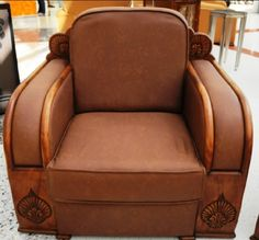 Leather Art Deco Club Chair