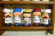 frascos de vidrio decorados para cocina - Buscar con Google