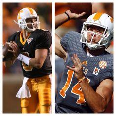 Tn Vols Football: Black & Orange and Gray & Orange