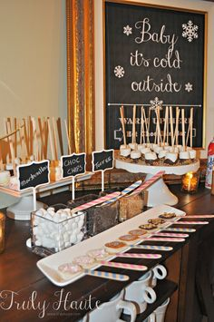Gender Reveal Party Gender Reveal Party-Hot Chocolate Bar {Beau or Bow} Pregnancy Gender Reveal, Baby Gender Reveal Party, Gender Party, Pregnancy Photos, Gender Reveal Themes, Gender Reveal Party Decorations, December Baby Shower Ideas, Christmas Gender Reveal, Christmas Baby Shower
