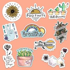 A portion of profit from these stickers is donated to the mental health awareness charity Active Minds. Planner Stickers, Journal Stickers, Printable Stickers, Stickers Cool, Tumblr Stickers, Funny Stickers, Laptop Stickers, Collage Mural, Homemade Stickers