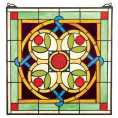 Found it at Wayfair - Celtic Floral Quatrefoil Stained Glass Window