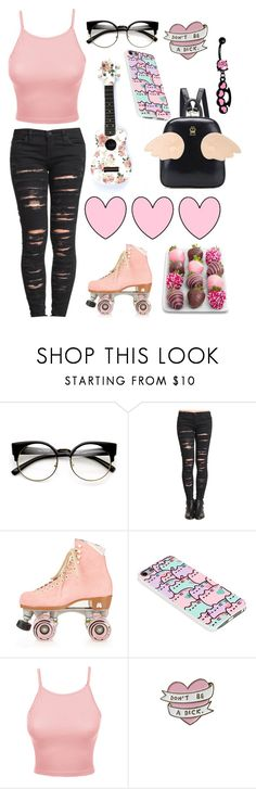 """Untitled #538"" by cherry-demon ❤ liked on Polyvore featuring ZeroUV, BLANKNYC, Moxi, Pusheen and LE3NO"