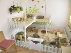 Be inspired by these amazing hamster cages! You can always create a unique hamster cage that you and your hammy equally love. Cage Hamster, Diy Guinea Pig Cage, Guinea Pig Hutch, Guinea Pig House, Pet Guinea Pigs, Pet Cage, Hedgehog Cage, Bunny Hutch, Hedgehog House