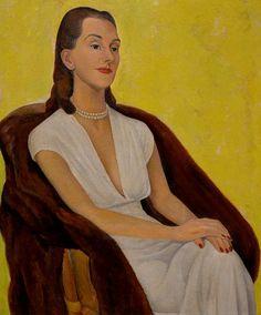 "Portrait of Mrs. Carr , 1946, Diego Rivera (1886-1957) """