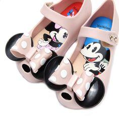 premium selection 0f74f cd4a7 Mini Melissa 2 Layer Bow Mouse Twins Kids Sandały 2018 Nowe zimowe  galaretki Melissa Buty Soft